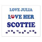 Love Julia Love Her Scottie Small Poster