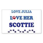 Love Julia Love Her Scottie Rectangle Sticker