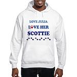Love Julia Love Her Scottie Hooded Sweatshirt