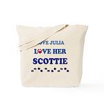 Love Julia Love Her Scottie Tote Bag