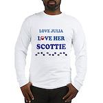 Love Julia Love Her Scottie Long Sleeve T-Shirt
