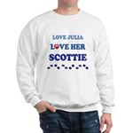 Love Julia Love Her Scottie Sweatshirt
