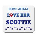 Love Julia Love Her Scottie Mousepad