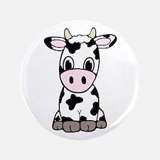 Cute Cartoon Cow Button