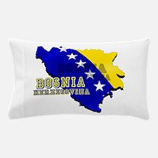 Flag Map of Bosnia Pillow Case