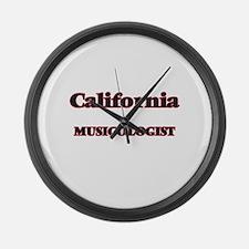California Musicologist Large Wall Clock