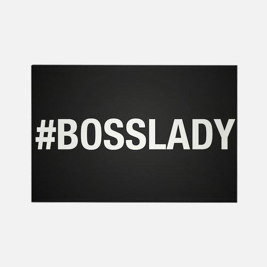Hashtag Bosslady Rectangle Magnet