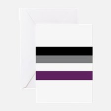 Asexuality Flag Greeting Cards