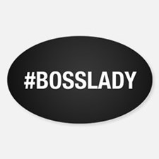 Hashtag Bosslady Sticker (Oval)