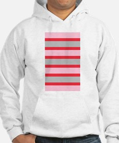 Pink Red Stripes Heather's Fave Hoodie