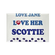 Love Jane Love Her Scottie Rectangle Magnet
