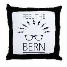 Feel the Bern Throw Pillow