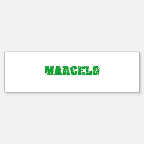 Marcelo Name Weathered Green Design Bumper Bumper Bumper Sticker