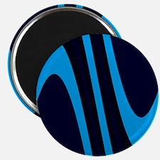 Chic Blue Black Sophisticated Wav Magnets