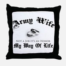 Army Wife: It's an Honor Throw Pillow