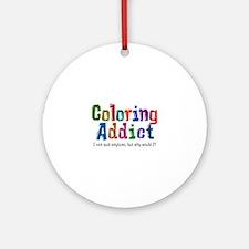 Coloring Addict Round Ornament