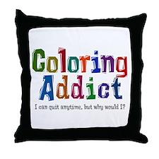Coloring Addict Throw Pillow