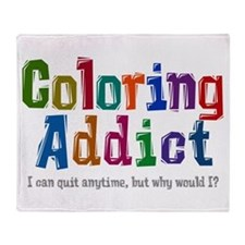 Coloring Addict Throw Blanket