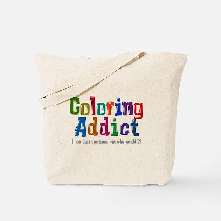 Coloring Addict Tote Bag
