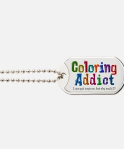 Coloring Addict Dog Tags
