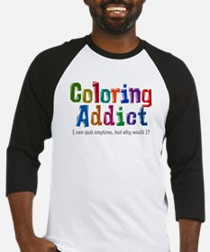Coloring Addict Baseball Jersey