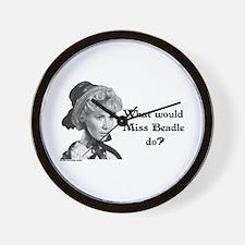 What Would Miss B (b&w) Wall Clock