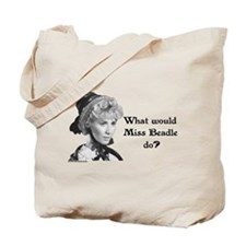 What Would Miss B (b&w) Tote Bag