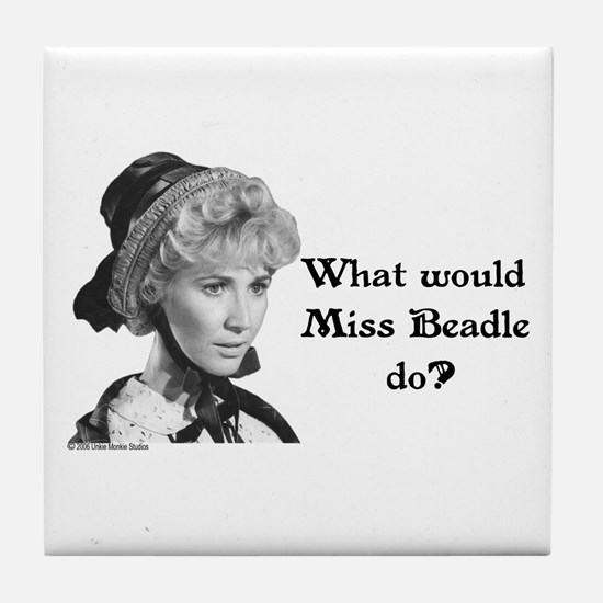 What Would Miss B (b&w) Tile Coaster
