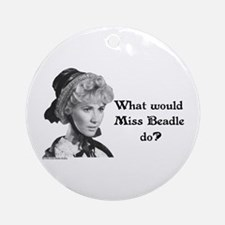 What Would Miss B (b&w) Ornament (Round)
