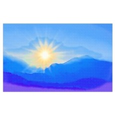 Watercolor Sunrise Canvas Art