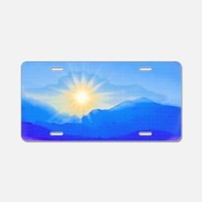 Watercolor Sunrise Aluminum License Plate
