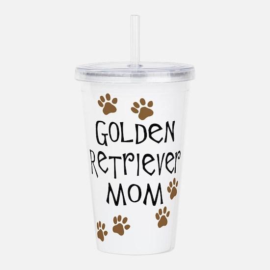 golden retriever mom.png Acrylic Double-wall Tumbl