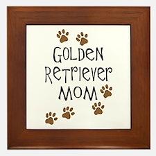 golden retriever mom.png Framed Tile