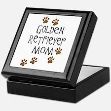 golden retriever mom.png Keepsake Box