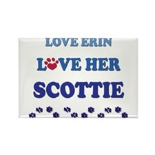 Love Erin Love Her Scottie Rectangle Magnet