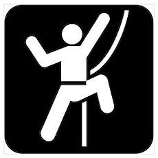 Rock Climbing Park Symbol Poster