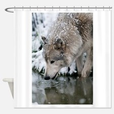 Unique Wolf Shower Curtain