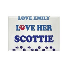 Love Emily Love Her Scottie Rectangle Magnet