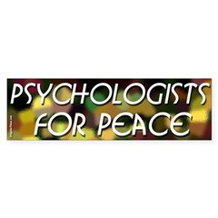 Psychologists for Peace bumper sticker
