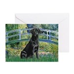 Bridge & Black Lab Greeting Cards (Pk of 20)