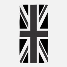Union Jack: Black & White Beach Towel