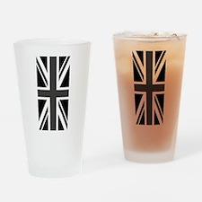 Union Jack: Black & White Drinking Glass