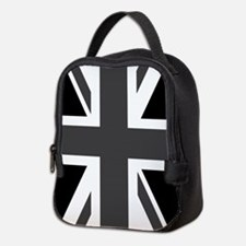 Union Jack: Black & White Neoprene Lunch Bag