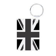 Union Jack: Black & White Keychains