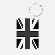 Union Jack: Black & White Keychains