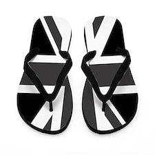 Union Jack: Black & White Flip Flops