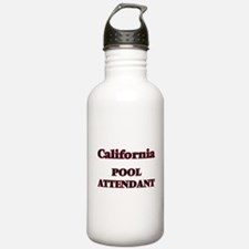 California Pool Attend Water Bottle