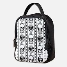 Baroque Skull Stripe Black/Whit Neoprene Lunch Bag
