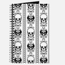 Baroque Skull Stripe Black/White Journal