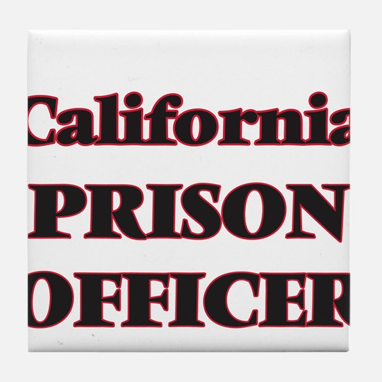 California Prison Officer Tile Coaster